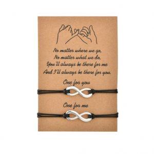 moeder, zoon, armbanden, set, moederdag, cadeau, infinity, hanger