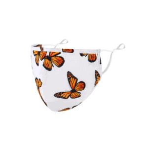 mondkapje, mondmasker, vlinder, accessoires, wasbaar, herbruikbaar, wit, print