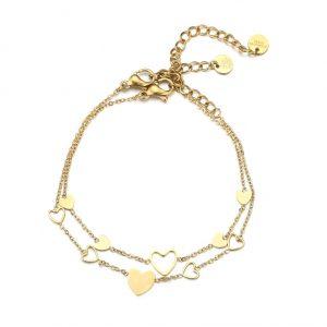 mother. daughter, bracelet, set, hearts, jewellery, women