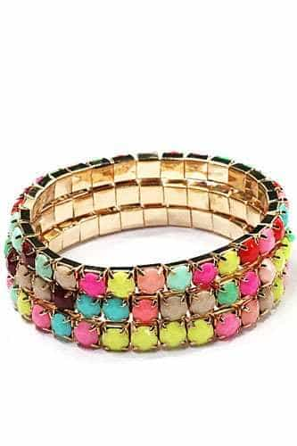 Multicolor Bracelet Set. Click here for more beautiful bracelets. Shop all musthave jewellery by Aphrodite. Free worldwide shipping and gift.