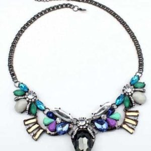 Multicolor Statement Necklace. Click here for more beautiful statement necklaces. Shop all musthave jewellery by Aphrodite. Free worldwide shipping and gift
