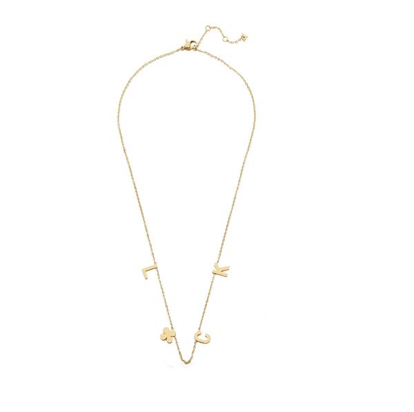 ketting met hanger, luck, sieraden, dames, accessoires, goud, nikkelvrij, stainless steel, roestvrij staal