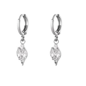 oorbellen hanger, zirkonia, diamant, kristallen, sieraden, dames, jewellery