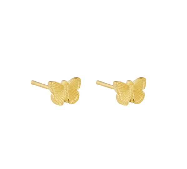 oorstekers, stud oorbellen, oorknopjes, vlinder, goud, zilver, stainless steel, rvs, roest vrij staal