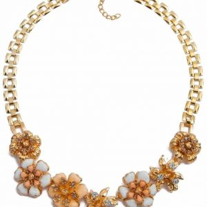 Orange Flowers Statement Necklace. Click here for more beautiful statement necklaces .Shop all musthave jewellery by Aphrodite .Free worldwide shipping.
