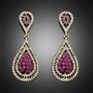Purple Statement Earrings. Click here for more beautiful statement earrings. Shop all musthave jewellery by Aphrodite.Free worldwide shipping and gift.