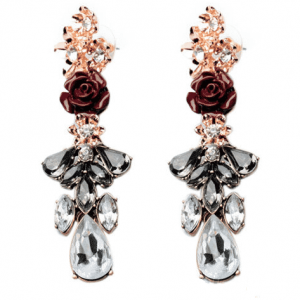 Rose Statement Earrings. Click here for more beautiful statement earrings.Shop all musthave jewellery by Aphrodite. Free worldwide shipping and gift.