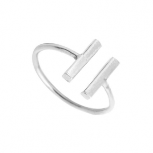 Silver Delicate Double Bar Ring. click hear to shop more beautiful rings. Shop all musthave jewellery by aphrodite. Free worldwide shipping and gift.