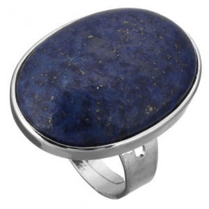 Statement Ring, blue Stone, Lapis Lazuli, jewellery, silver