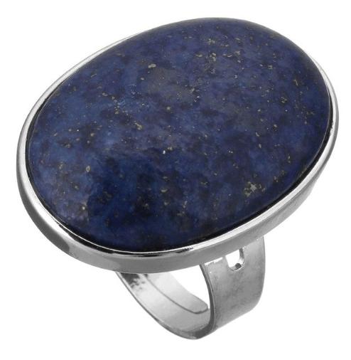 statement ring, blauwe, natuursteen, lapis lazuli, sieraden
