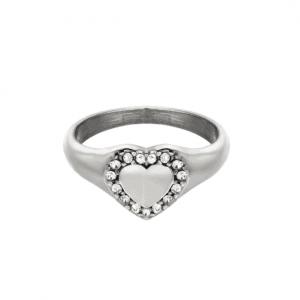 ring met hartje, diamanten, kristallen, zirconia, sieraden, dames, jewellery, roestvrije staal, stainless steel