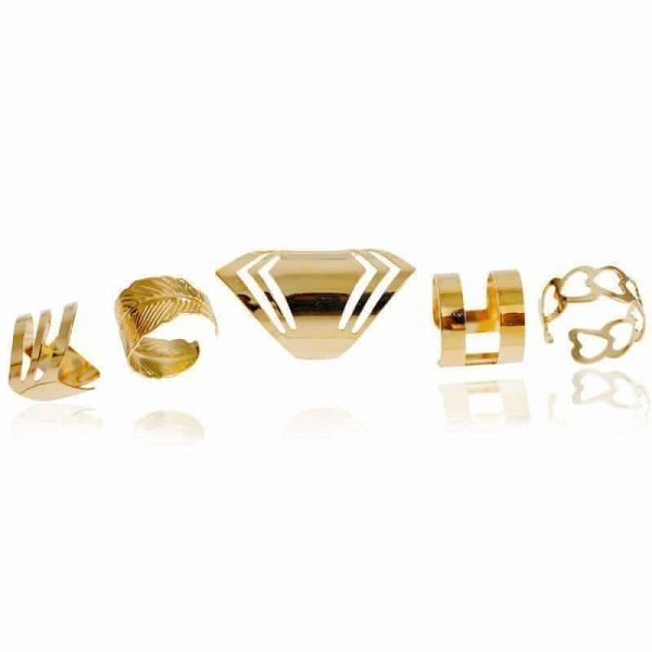 5 Pcs Gold Layered Ring Set.click hear to shop more beautiful rings. Shop all musthave jewellery by aphrodite. Free worldwide shipping and gift.