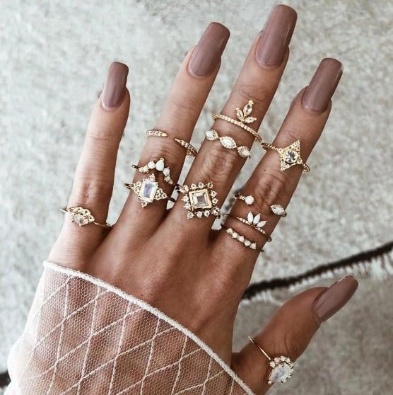 ringen set, harmony, goud, kristallen, sieraden