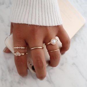 ringen set, parel, minimalistisch, fijn, sieraad, sieraden, jewellery, jewelry