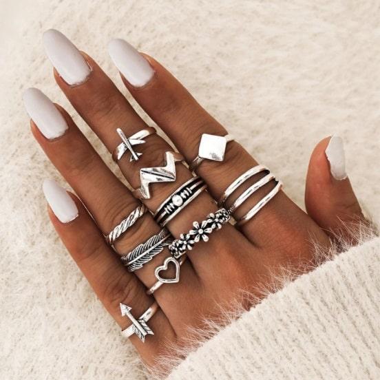 ringen set, hartje, vliegtuig, bali, sieraad, sieraden, jewellery, jewelry, ringetjes, hippe
