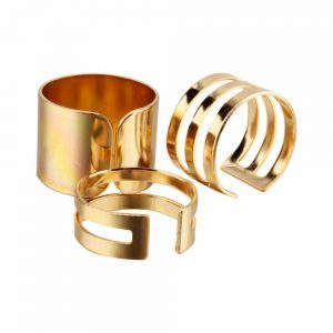 3 Pcs Ring Set Gold - Silver. click hear to shop more beautiful gold rings. Shop all musthave jewellery by aphrodite. Free worldwide shipping and gift.