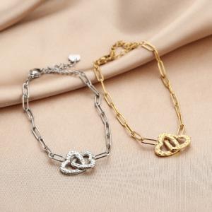 schakelarmband, hartje, sieraden, dames, accessoires, stainless steel, roestvrij staal