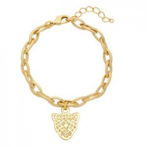 schakelarmband, leopard, luipaard, sieraden, stainless steel, nikkelvrij, sieraad, jewellery, jewelry, dames, vriendin