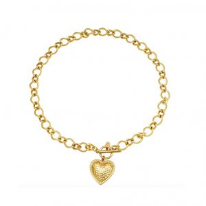 schakelketting, stainless steel, nikkel vrij, goud, sieraden, jewellery, jewelry, dames, hartje, statement