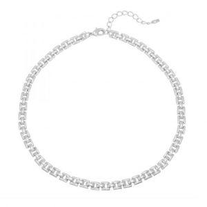 schakelketting, zilver, goldplated, jewellery, jewelry, nikkel vrij, dames