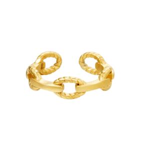 schakelring, sieraden, dames, accessoires, stainless steel, goud, zilver, chain, nikkelvrij