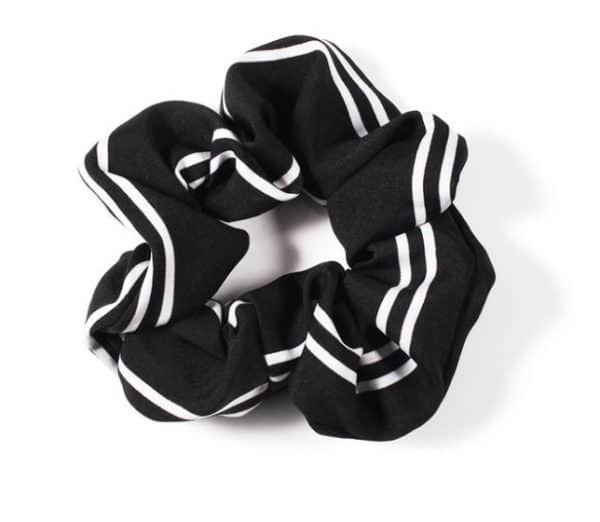 scrunchie, black, white, accessory , jewellery