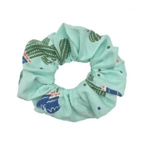 scrunchie, haarwokkel, haaraccessoires, dames, accessoires, aphrodite, cactus, blauw