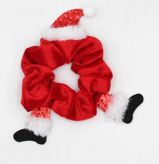 scrunchie, haarwokkel, kerst, rood, accessoires, haaraccessoires