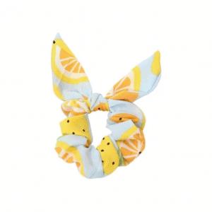 scrunchie met strik, fruit, haaraccessoires, accessoires, haarelastiekjes, fruit, sinaasappel
