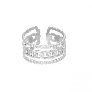 stainless steel, ring, sieraden, dames, accessoires, schakelring, nikkelvrij, roestvrij staal
