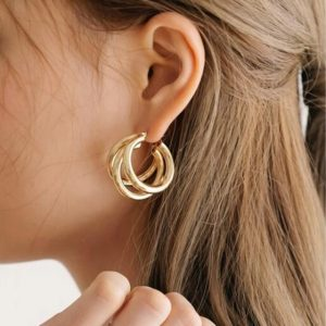 statement earrings, circle, jewellery, gold, silver, female