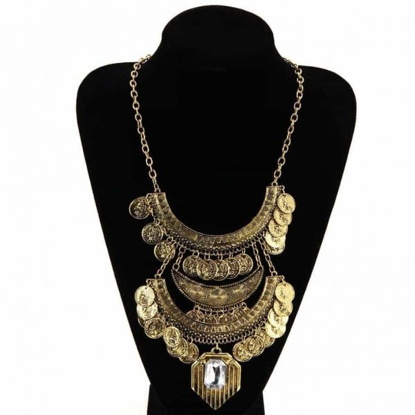 Vintage Statement Necklace With Coins. Click here for more beautiful statement necklaces. Shop all musthave jewellery by Aphrodite.Free worldwide shipping.