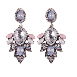 Statement Earrings With Purple Crystals.click here for more beautiful statement earrings.shop all musthave jewellery by aphrodite.free worldwide shipping