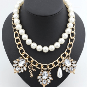 Layered Statement Necklace. Click here for more beautiful statement necklaces. Shop all musthave jewellery by Aphrodite. Free worldwide shipping and gift.