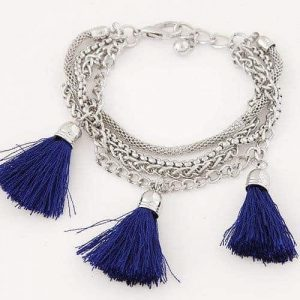 Bracelet With Blue Tassels. Click here for more beautiful bracelets. Shop all musthave jewellery by Aphrodite. Free worldwide shipping and gift.