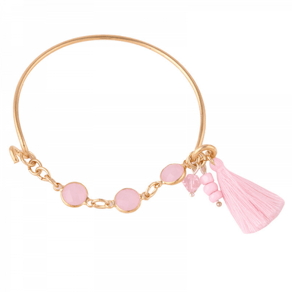 Pink Tassel Bracelet.Click here for more beautiful bracelets. Shop all musthave jewellery by Aphrodite. Free worldwide shipping and gift.