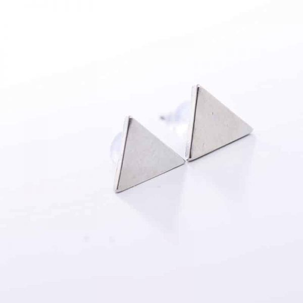 Silver Triangle Earstuds.Click here for more delicate earrings. Shop all musthave jewellery by Aphrodite. Free worldwide shipping and gift.
