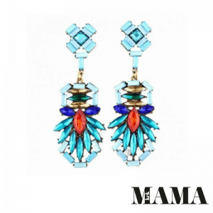 Blue Statement Earrings. Click here for more beautiful statement earrings. Shop all musthave jewellery by Aphrodite. Free worldwide shipping and gift.