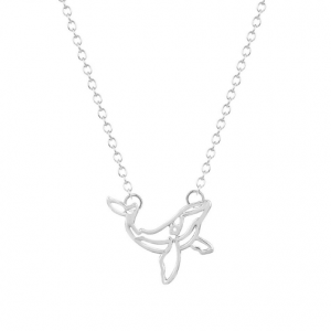 minimalist necklace, whale pendant, silver, jewellery, fashion