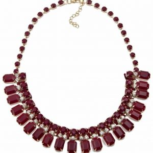 Wine Red Statement Necklace. Click here for more beautiful statement necklaces. Shop all musthave jewellery by Aphrodite. Free worldwide shipping.