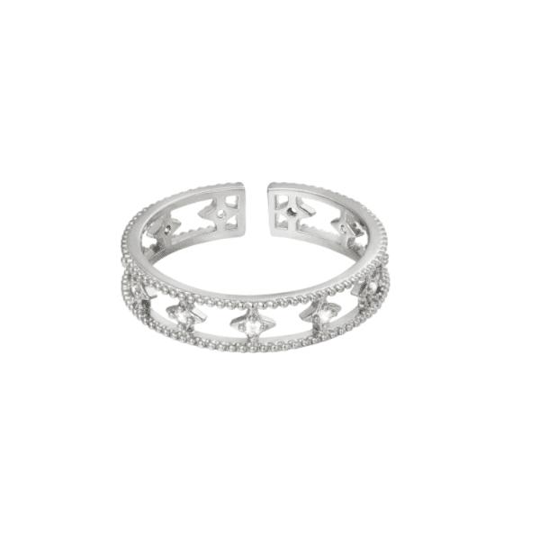 verstelbare ring, zirkonia, diamant, jewellery, sieraden, dames, nikkel vrij