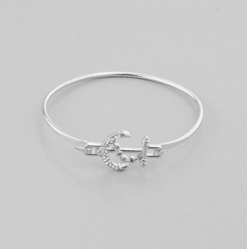 anker bangle armband, zilver, trendy, sieraden, anchor