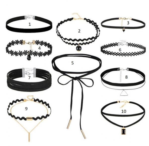 Zwarte Choker Kettingen. Klik hier voor meer zwarte,witte en bruine choker kettingen. Shop alle musthave sieraden bij Aphrodite. Gratis verzending.