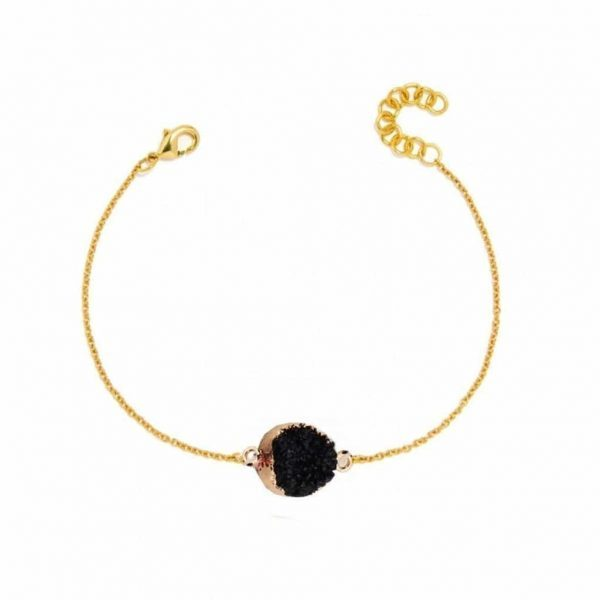 Black Druzy Bracelet. Click here for more beautiful bracelets. Shop all musthave jewellery by Aphrodite. Free worldwide shipping and gift.