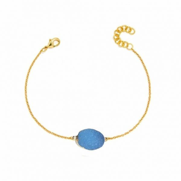 Blue Druzy Bracelet. Click here for more beautiful bracelets. Shop all musthave jewellery by Aphrodite. Free worldwide shipping and gift.