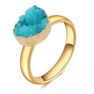 Blauwe druzy ring van aphrodite.Shop alle musthave ringen en andere sieraden bij aphrodite.Gratis verzending en cadeau.
