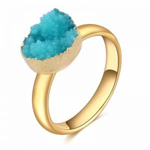 Blue Druzy Ring.click hear to shop more beautiful rings. Shop all musthave jewellery by aphrodite. Free worldwide shipping and gift.