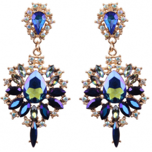 Blue Statement Earrings.Click here for more beautiful statement earrings. Shop all musthave jewellery by Aphrodite. Free worldwide shipping and gift.