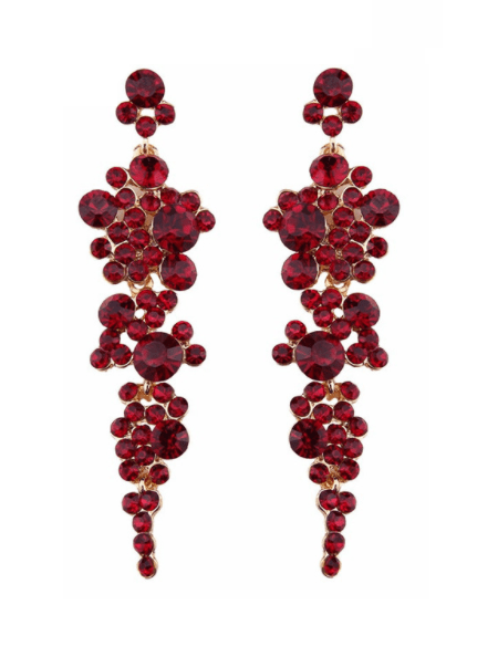 Bordeaux-Dark Red Statement Earrings. Click here for more statement earrings. Shop all musthave jewellery by Aphrodite. Free worldwide shipping and gift.