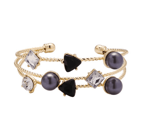 Cuff Bracelet With Crystals And Pearls. Click here for more beautiful bracelets. Shop all musthave jewellery by Aphrodite. Free worldwide shipping and gift.